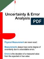 2. Uncertainty Error Analysis