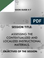 Session Guide Slide Decks