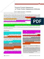 Product appearance attributes