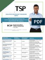Bcsp Tsp Qep List