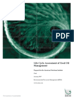 LCA of Used Oil Mgmt ERM 10012017