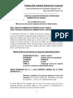 Modelo de Recurso de Casación en Contencioso Administrativo Laboral - Autor José María Pacori Cari