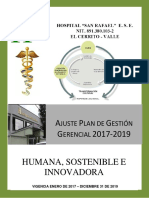 Ajuste Plan de Gestión Gerencial 2017 2019