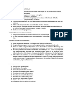 Advantage of Finite Element method