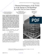 The Effect of the Thermal Performance of the Forms Inspired by Nature in the Design of Tall Buildings A Case Study of the Tree in Cairo Climate
