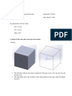 position of a cube