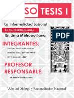 La informalidad laboral en Lima