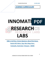 Free Download Data Science Curriculum - Innomatics Research Labs Hyderabad, India