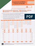 Cuestionario y Hábitos de Estudio Perfil