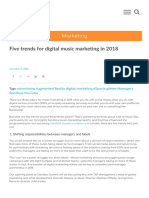 Five Trends for Digital Music Marketing in 2018 and One to Watch for 2019