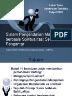SPM Berbasis Spiritualitas Untad 9 April 2019