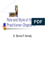 Chapter 4 Role and Style of the OD Practitioner
