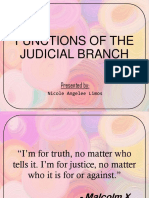 Functions of Judicial Branch