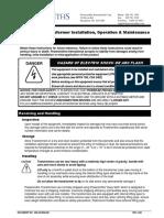 Install Op. Maint. Manual Transformers 806.1800.600.A09