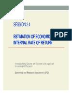 Estimation Eirr 2014