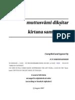 Dikshithar Kirthis CARNATIC