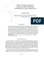 Effect of Organic Content on Compaction and Consolidation Characteristics of Lagos Organic Clay