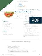 Creme de Alho Francês _ Clube Bebé Nestlé