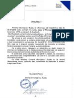 Comunicat Primăria Buzău - SC Magnetic Zero Production SRL