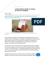 The Future of Retail Will Be Built on Clicks Bricks and Data-driven Insights