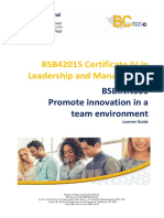BSBINN301 - Promote Innovation in a Team Environment Learner Guide V3-1