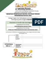 Pre-test Kuesioner Perkembangan Bahasa Dan Bicara Pada Anak