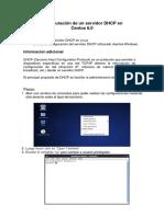 Configuracion de Un Servidor DHCP en Cen