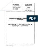Specification for Installation of Electrical Equipment