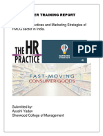 HR Practices and Marketing Strategies of FMCG Company In India