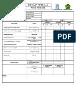 Checklist Pancang