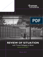 "Report on situation with ""transit refugees"" in Brest (January-June 2019)"