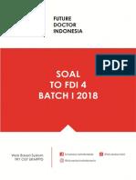Soal to Fdi 4 Batch i 2018