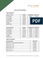 Tabela Projeto 999 Salutar
