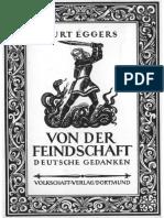 Kurt Eggers - Von Der Feindschaft - Deutsche Gedanken 1941