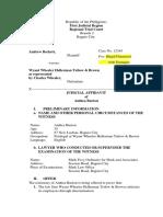 Judicial Affidavit Philadephia