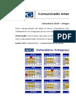 Calendário Integração