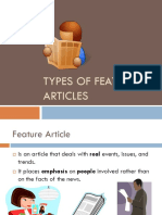 Feature Article Types Presentation