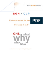 SGH_CLP - Pictogrammes de danger, Phrases H et P