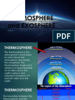 Thermosphere and Exosphere
