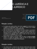 Relação Jurídica e Sujeito Jurídico