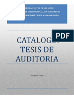 Catalogo Tesis Auditoria Iese