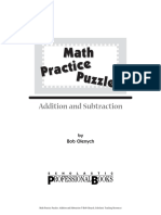 Math Practice Puzzles-Addition and Subtraction 1