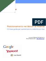 [eBook ITA] Guida Al Posizionamento Nei Motori Di Ricerca a Guadagno Online, SEO, Soldi Internet, Web Rank, Lavoro Casa, Guida, Manuale)