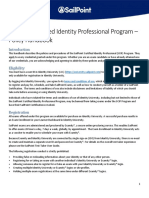 SailPoint Certified Identity Professional Program - Policy Handbook