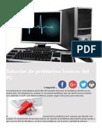 Solución de problemas básicos del PC
