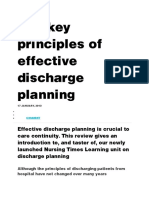 The key principles of effective discharge planning inggris.docx