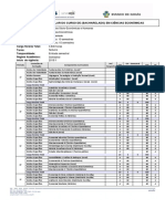 Matriz Curricular 2015 UEG Ciências Econômicas