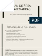 Estructura Plan de Area Matematicas Dilmer