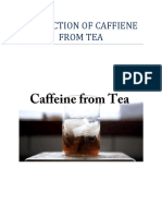 Extraction of Caffiene From Tea