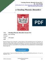 Stealing Phoenixbenedictsavant 2 by Joss Stirling